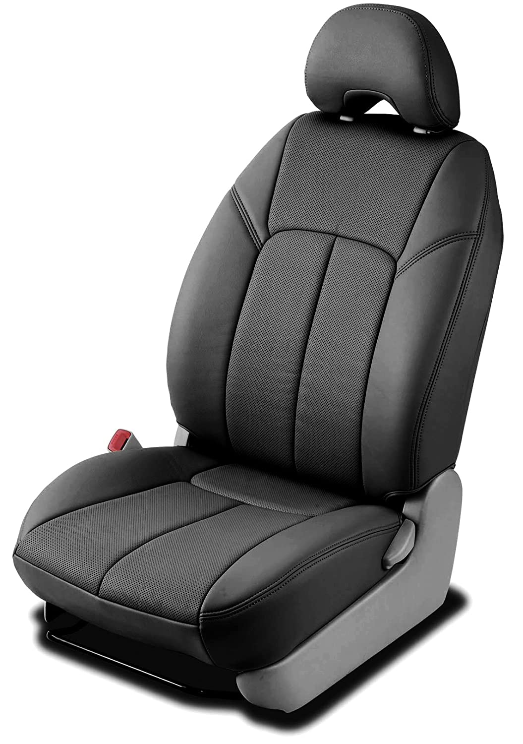 Clazzio 245711blk Black Leather Front Row Seat Cover for Toyota Rav4 Base