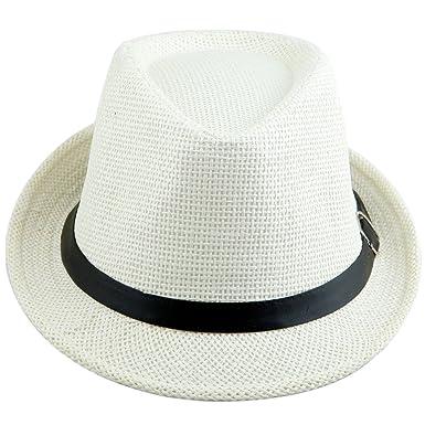 3e7f88b4b71 Shanxing Fedora Hats for Men Trilby Hat Panama Style Summer Beach Sun Jazz  Cap