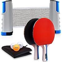 Joy.J Sets de Ping Pong, 2 Raquetas Set de Ping Pong, Juego Detenis de Mesa PortáTil, 2 Palas de Ping Pong Profesional…