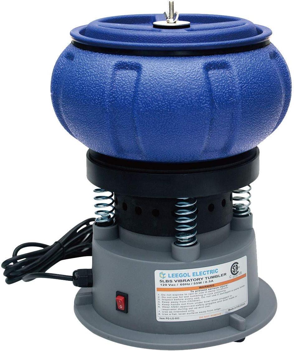 Leegol Electric Rock Tumbler 5LB Vibratory Tumbler Bowl Tumbling Polishing