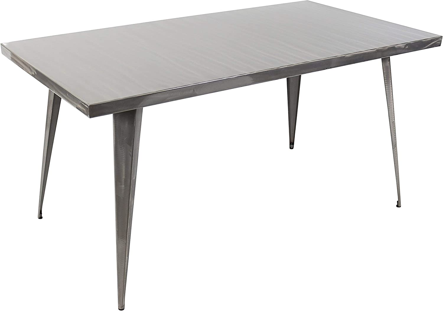 WOYBR Metal Material Austin Dining Table, Silver