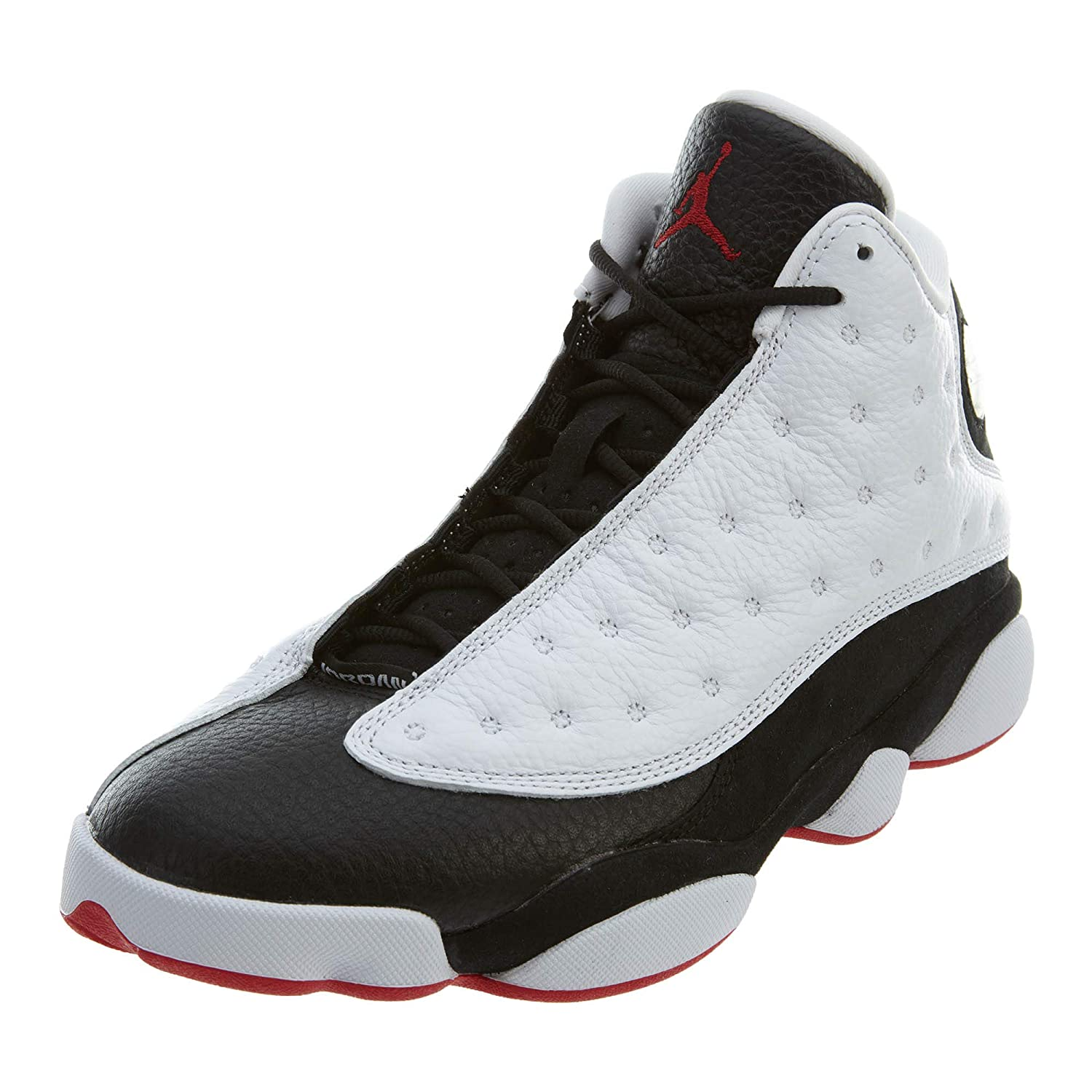 buy popular 10321 b1228 NIKE Air Jordan 13 Retro He Got Game Men's Shoes White/True red/Black  414571-104 (10.5 D(M) US)