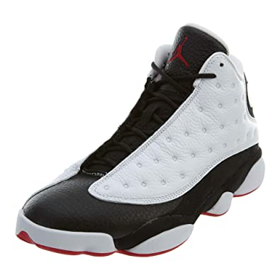 NIKE Air Jordan 13 Retro He Got Game Mens Shoes White/True red/Black