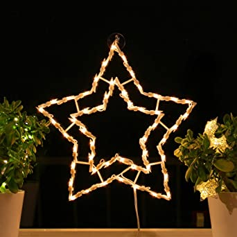 Fenster Weihnachtsbeleuchtung.Fenster Silhouette Weihnachten 40cm Weihnachtsdeko Fensterbilder Beleuchtet Weihnachtsbeleuchtung Innen Fensterdeko Zum Aufhängen