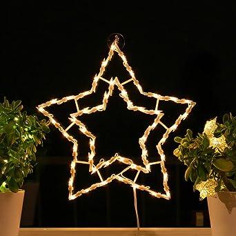 Weihnachtsbeleuchtung Am Fenster.Fenster Silhouette Weihnachten 40cm Weihnachtsdeko Fensterbilder Beleuchtet Weihnachtsbeleuchtung Innen Fensterdeko Zum Aufhängen