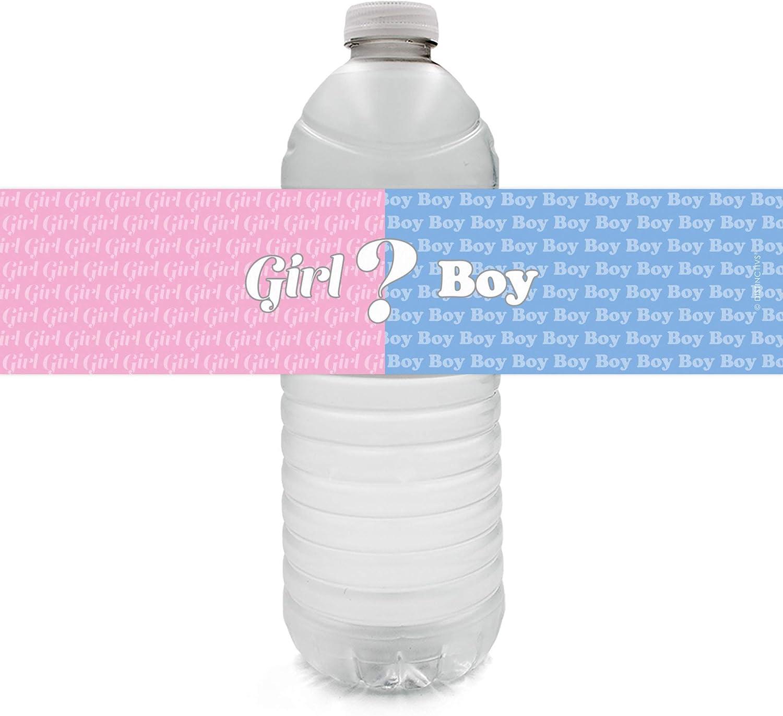 Custom Baby shower Water Bottle Labels Gender Reveal Doe or Buck