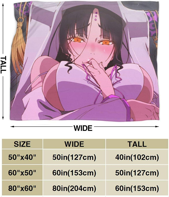 Korlav Kakegurui Sessyoin Kiara Throw Blanket,Wearable Sweatshirt Hoodie Blankets Plush Sofa Flannel Throw Bedding Anime Novelty Gift 50X40 for Kids