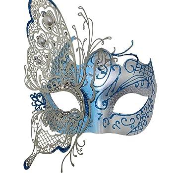 Party Mask - Máscara veneciana para mujer, diseño misterioso de mariposa brillante, para fiesta