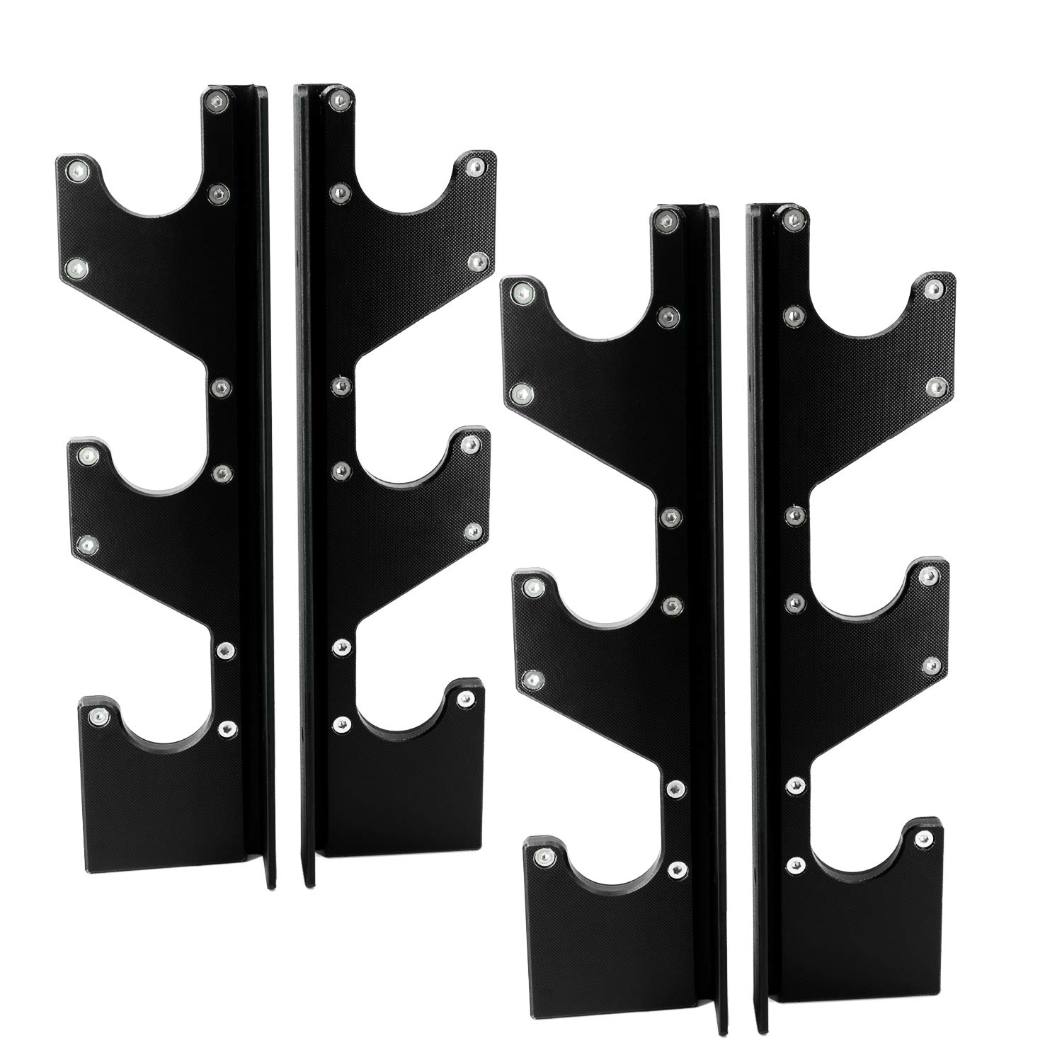 RIGERS Horizontal Wall Mounted Barbell Holder 3 Bar Storage Wall Rack for Standard /& Olympic Barbells