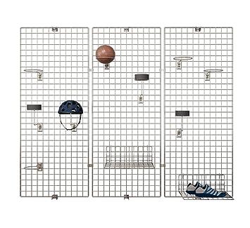 Deko Gitter.Deko Wandgitter Set Gitterwand Dekogitter Fotowand Ladeneinrichtung Verchromt 3er Set 60 X 200 Cm