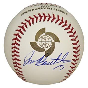 Balls Jose Bautista Autographed Signed 2017 Wbc Baseball Ball Blue Jays Jsa Coa