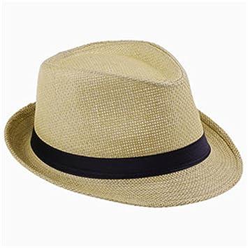 2018 Fashion Summer Straw Men s Beach Sun Hats Trilby Dad Gangster Cap  Sunhat Beach Sun Straw def57076887
