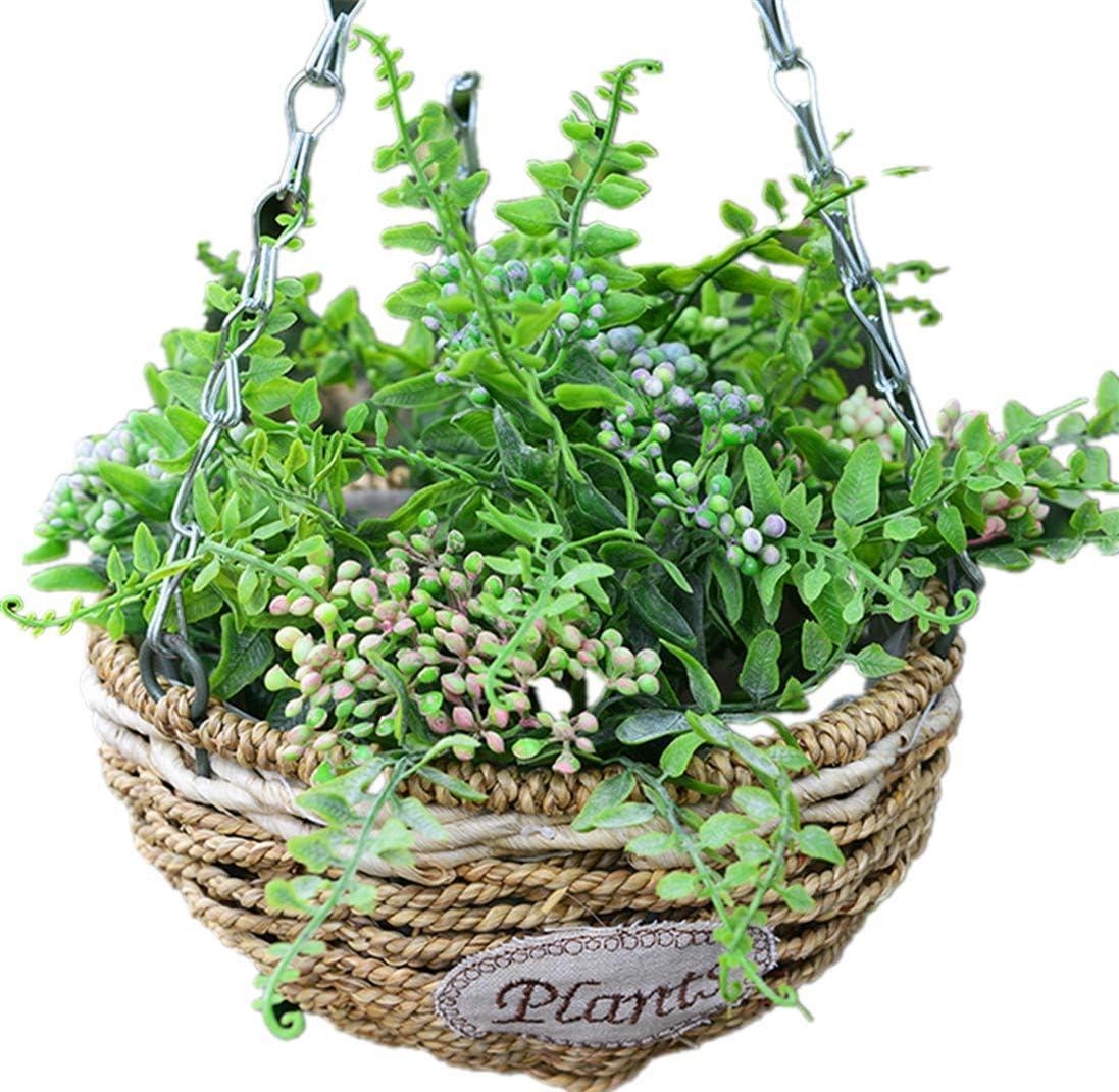 Hanging Flower Plant Pot Chain Basket Planter Holder Home Garden Balcony Useful