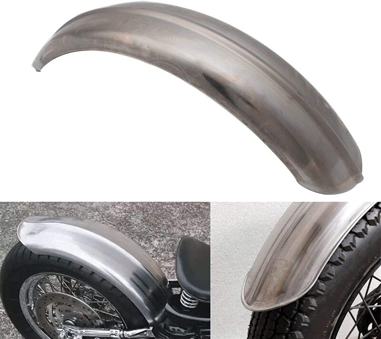 KKLL 1pcs Moto Argent Acier nervur/é 5 Wide Fit Garde-Boue arri/ère Fit for Harley Triumph XS650 Bobber Chopper Motorcycle Wassel Fender Extender