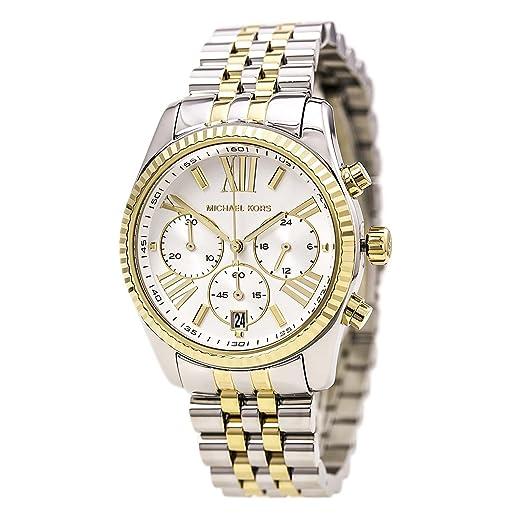 e0626fd5e2968 Amazon.com  Michael Kors Women s Two Tone Lexington Watch