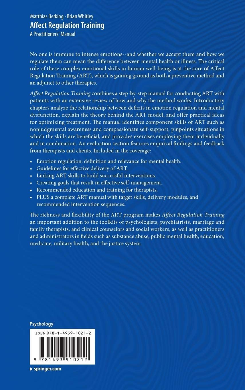 Affect Regulation Training: A Practitioners Manual