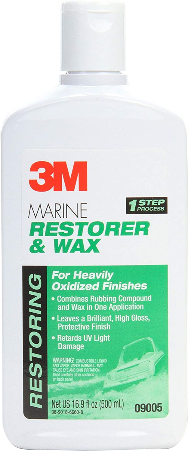 3M Marine Restorer & Wax (09005) – For Boats and RVs – 16 Ounces