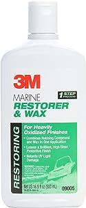 3M Marine Restorer and Wax, 09005, 16.9 fl oz