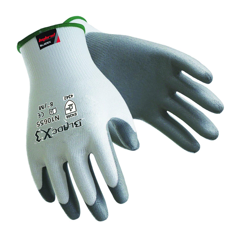 safety-inxs通気性作業手袋自動車PUコーティング、レベル3 Cut Resistantグローブ建設、安全手袋のカットガラス B07BNHCK4T  M