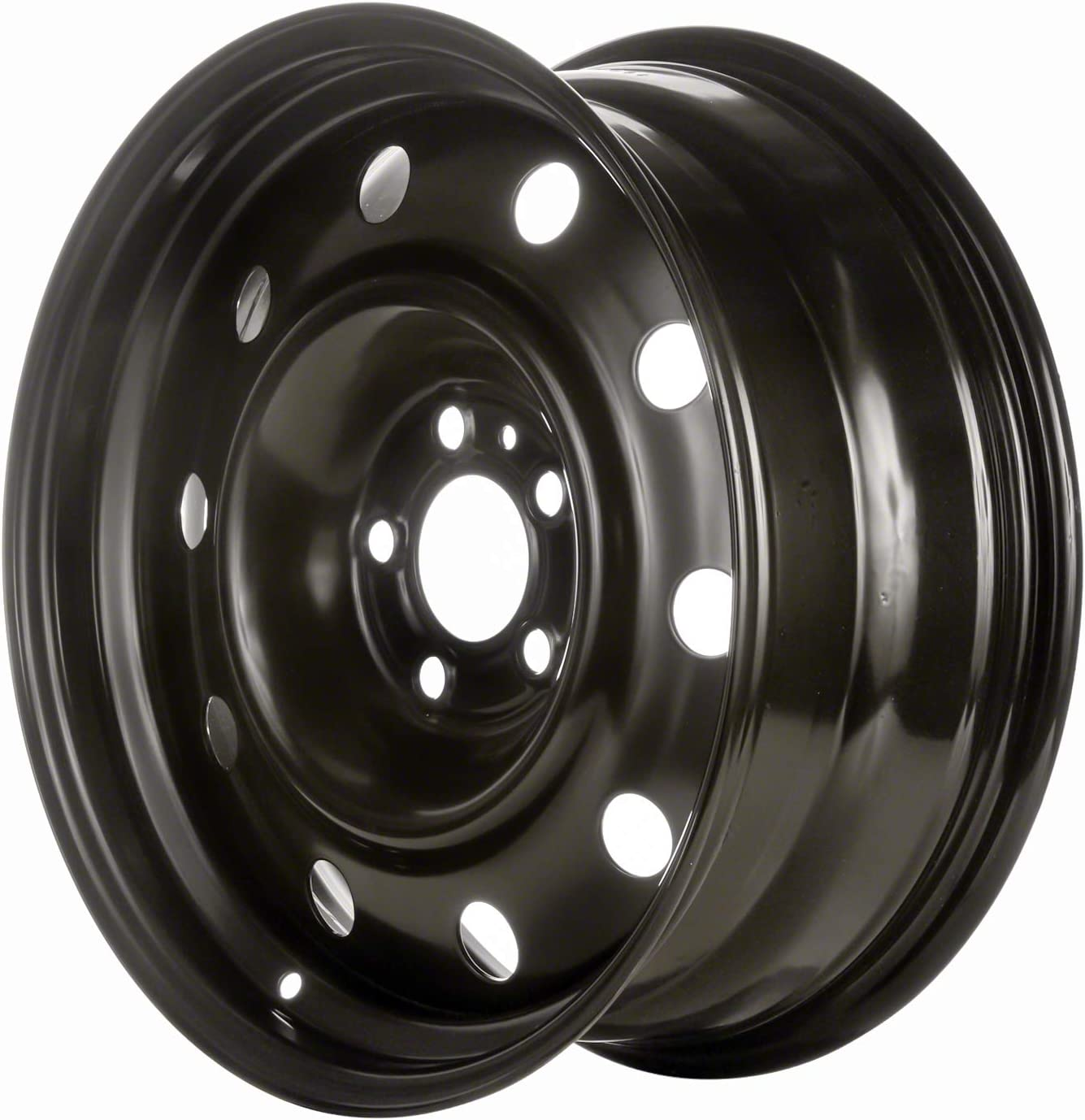Multiple Manufactures STL02240U45 Black Wheel with Painted and Meets All Federal Motor Safety Standards 17 x 7. inches //5 x 115 mm, 0 mm Offset