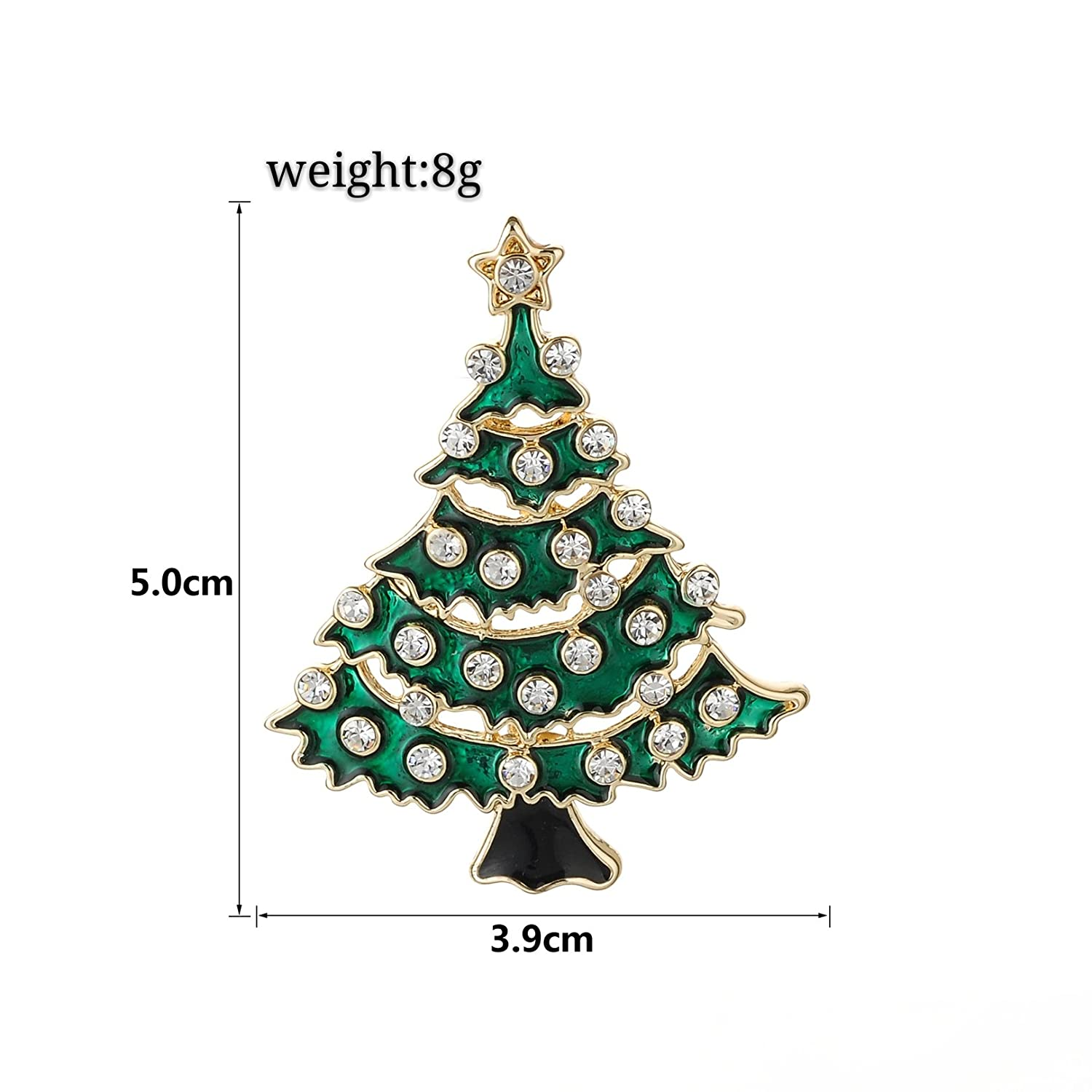 Amazon.com: Jewelry Christmas Brooch Pins set Holiday Brooch ...