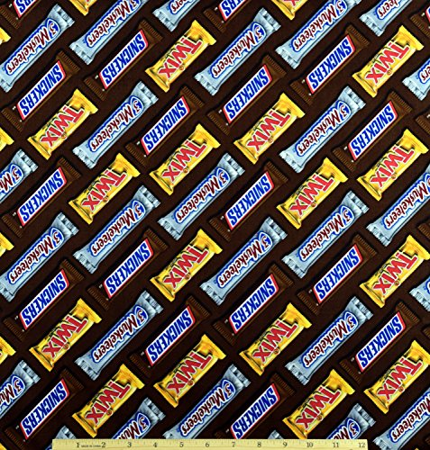 Candy Bar Fabric Snickers Twix 3 Musketeers by the (Candy Bar Crafts Halloween)