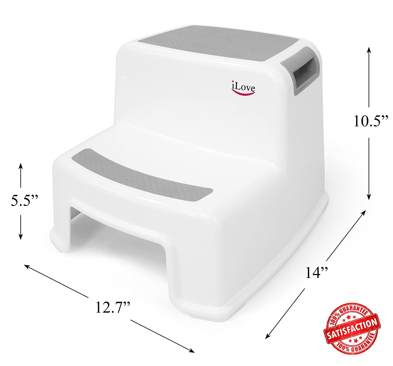 Peachy 2 Step Stool For Kids Gray 2 Pack Toddler Stool For Toilet Potty Training Slip Resistant Soft Grip For Safety As Bathroom Potty Stool Kitchen Unemploymentrelief Wooden Chair Designs For Living Room Unemploymentrelieforg