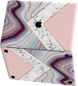 Mertak Vinyl Skin for Apple MacBook Air 13 inch Mac Pro 16 15 Retina 12 11 2020 2019 2018 2017 Touch Bar Pink Trackpad Wrap Keyboard Design Abstract Marble Geode Luxury Decal Stone Geometric Top