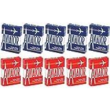 Aviator Standard Index Playing Cards - 5 Red Decks and 5 Blue Decks
