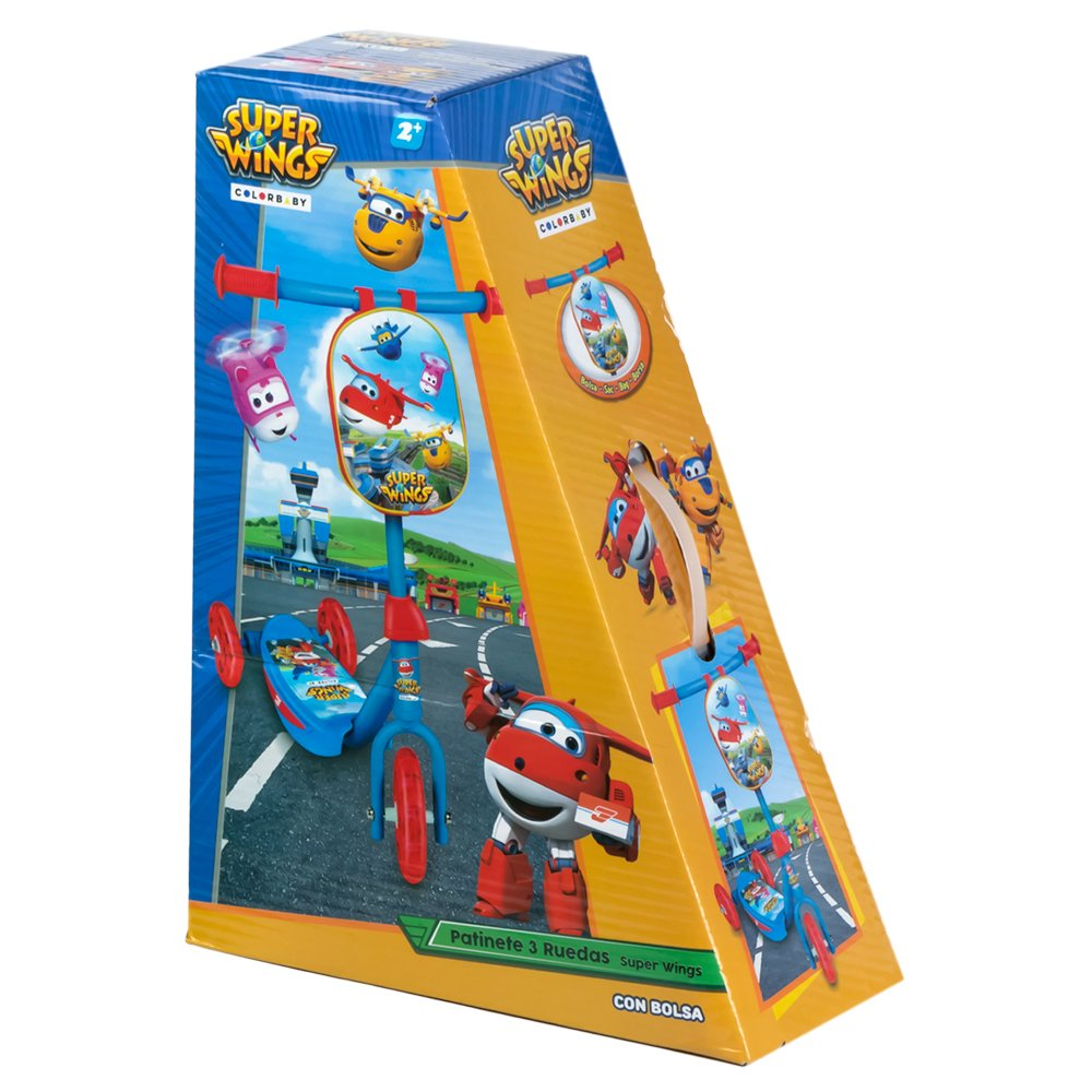 Super Wings - Scooter 3 ruedas & mochila (ColorBaby 77009 ...