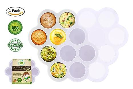 Bac A Congelateur Pour Aliments Pour Bebes En Silicone Avec