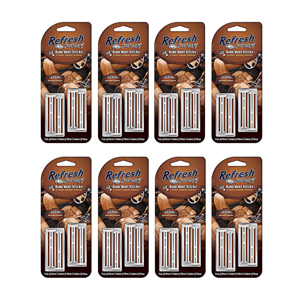 Lexol Leather Air Freshener Pack with 4 x Leather Vent Sticks (8) by Lexol