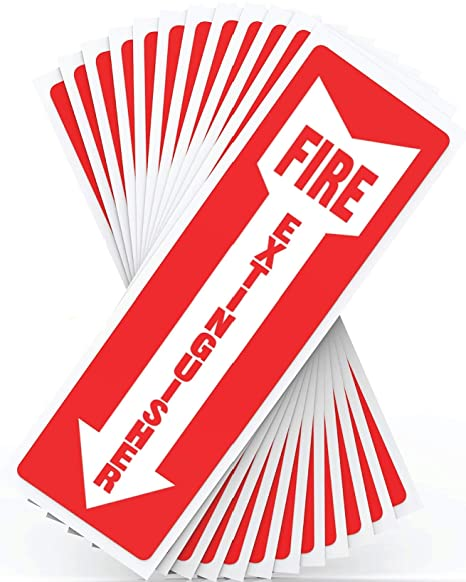 Fire Extinguisher Signs, Safety Sign Sticker - 12 Pack - 4