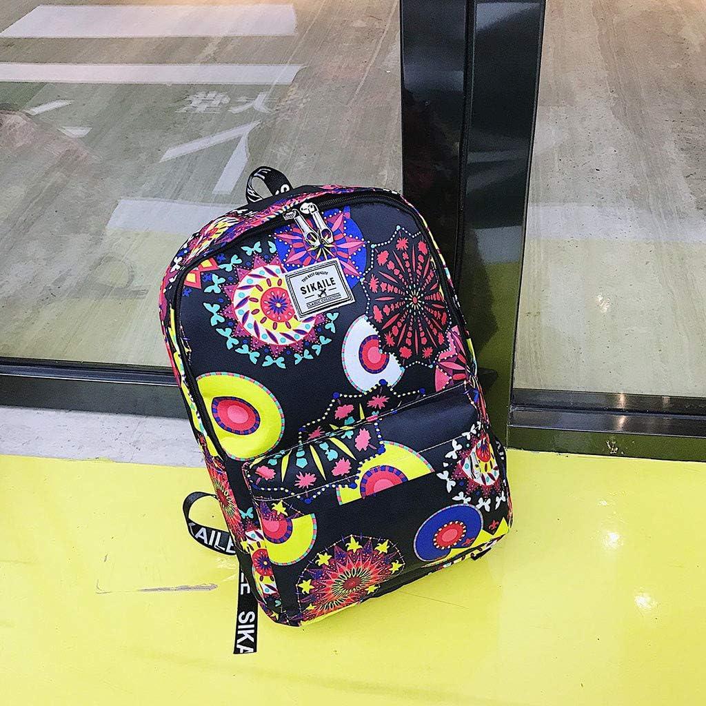 KEAKIA Women PU Leather Crane Backpack Purse Travel School Shoulder Bag Casual Daypack