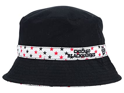 Chicago Blackhawks NHL New Era Kids Youth Reversible Black White Bucket Hat  (Youth) ba12366efb0