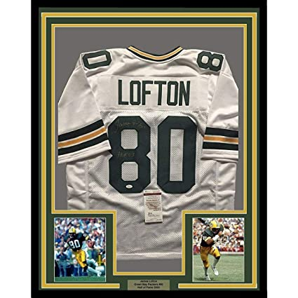 Image Unavailable. Image not available for. Color  James Lofton Autographed  Jersey - FRAMED 33x42 White COA - JSA ... e1226d43d