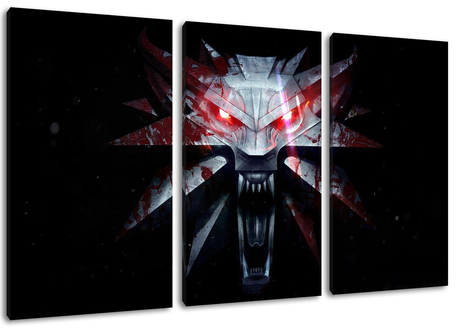 Amazon.de: Dark The Witcher 3-Teilig auf Leinwand, Gesamtformat ...