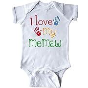 inktastic - I Love My MeMaw Infant Creeper 6 Months White 18dc5