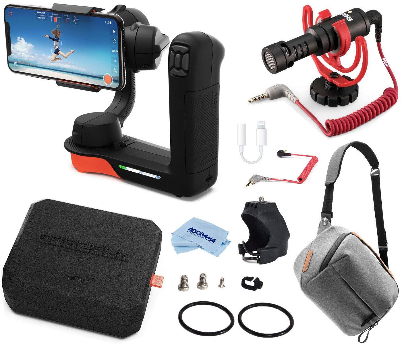 Freefly Filmmaker Kit 映画シネマ ロボット スタビライザー iPhones & スマートフォン用 自由な映画パーカ アクセサリーマウント ロードオンカメラマイク 3.5mm TRSからTRRSパッチケーブルなどに   B07MKQLK2T