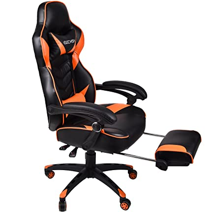 amazon com ergonomic computer gaming chair large size pu leather
