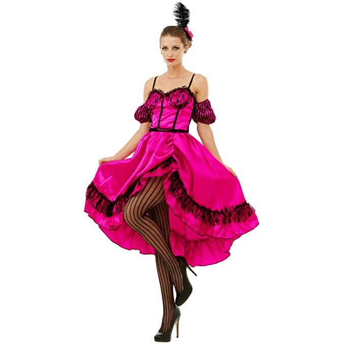 Vintage Burlesque Clothing, Costumes, Outfits Boo Inc. Saloon Sweetheart Halloween Costume Dress | Wild West World Madam Cosplay $29.99 AT vintagedancer.com
