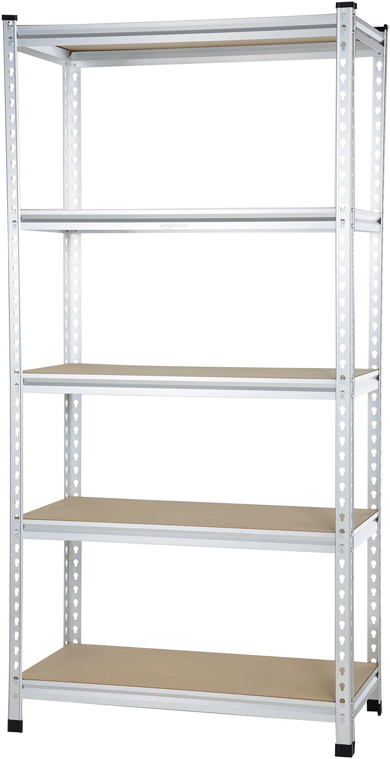 AmazonBasics Medium Duty Shelving Double-Post Press Board Shelf - 36 x 18 x 72