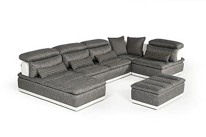 Amazon Com David Ferrari Panorama Italian Modern Grey Fabric