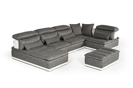 Amazon.com: David Ferrari Panorama Italian Modern Grey ...