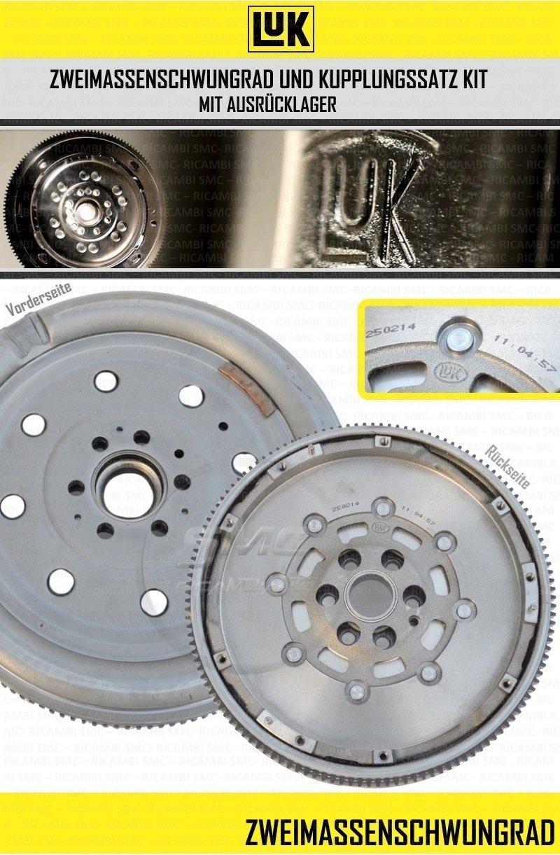LuK kupplungskit Juego de embrague + zweimassenschwungrad Volkswagen Golf 5 Audi A3 1,9tdi bls: Amazon.es: Coche y moto