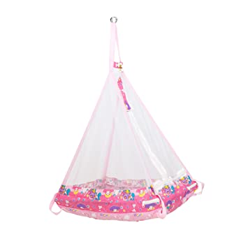 furn s hanging baby cradle with mosquito   foldable hammock jhula thottil pink 1032  buy furn s hanging baby cradle with mosquito   foldable      rh   amazon in