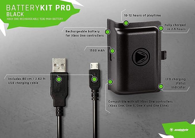 SnakeByte - Battery Kit Pro (Xbox One): Amazon.es: Videojuegos
