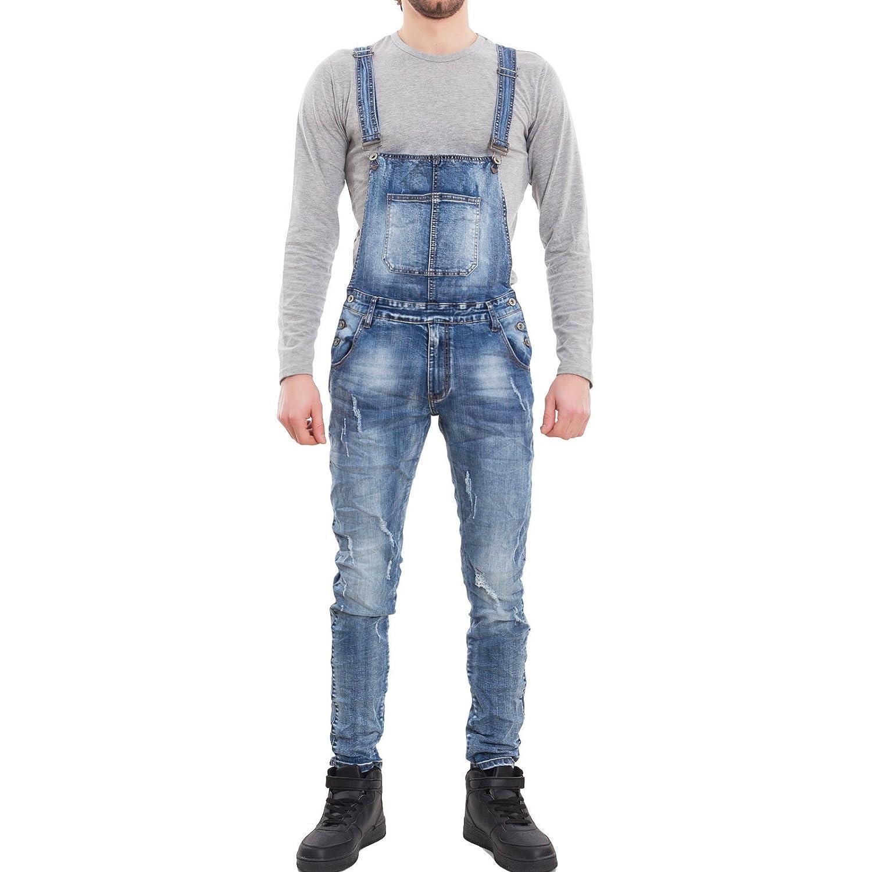 Toocool - Salopette uomo jeans overall tuta intera denim casual slim fit cotone M8818 blu] 64768-12-106-1
