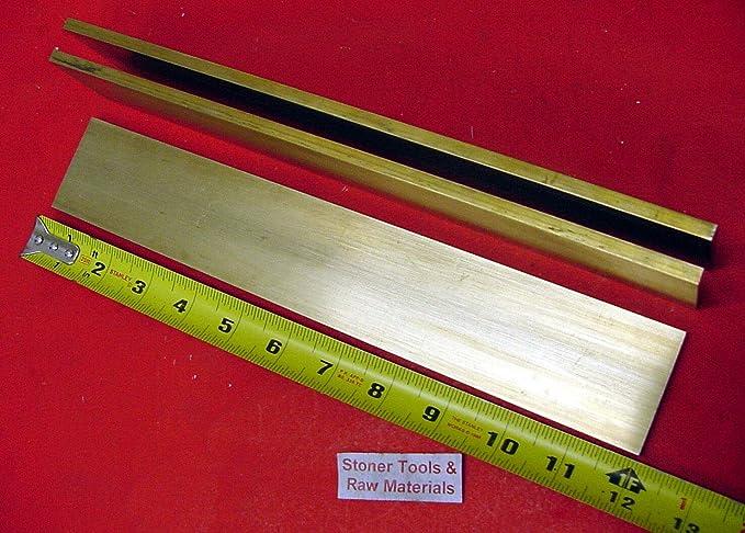 "2 Pieces New Brass Stock H02 1//4/"" x 1//2/""  C360 Brass Solid Flat Bar 12/"" long"