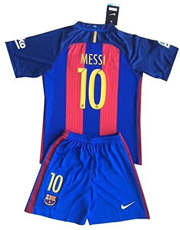 online store c8a23 db60f MESSI 10 Barcelona Soccer Jersey Home 2016/2017 Kid's Size M ...